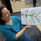 Catherine Mazuroski displays her painting