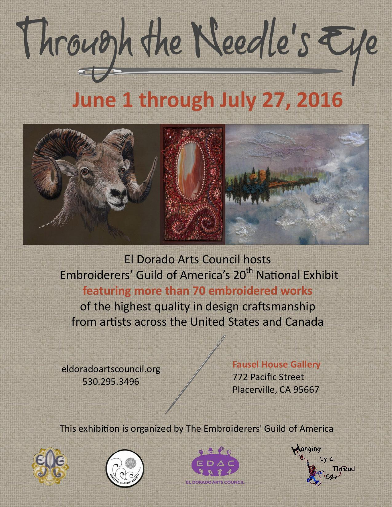Through The Needles Eye The Embroiderers Guild Of Americas 20th