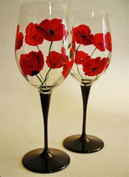 wine glass painting id...