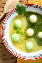 Chilled Dueling Melon Soup