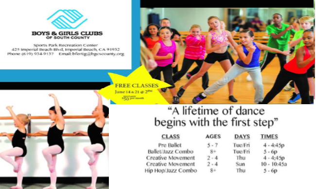 Summer Day Camp Programs and Free Classes Provided for Youth at Boys  Girls Club and Sports Park Recreation Center  Dig Imperial Beach