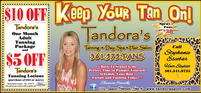 Tandora s 20tanning  20day 20spa  20hair 20salon 20  20vc 20  20aug sept 202017