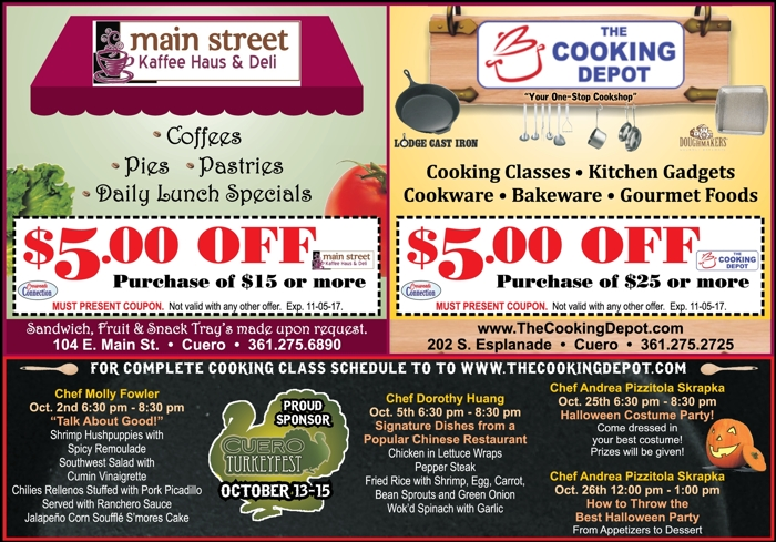 Main 20street 20kaffee 20haus 20  20deli 20and 20the 20cooking 20depot 20  20cc 20  20sept oct 202017
