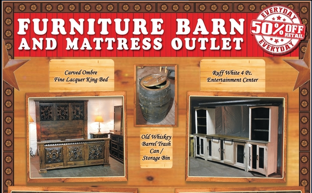 50% Off Retail Everyday At Furniture Barn And Mattress Outlet In Yoakum    Exceptional Quality U0026 Service.