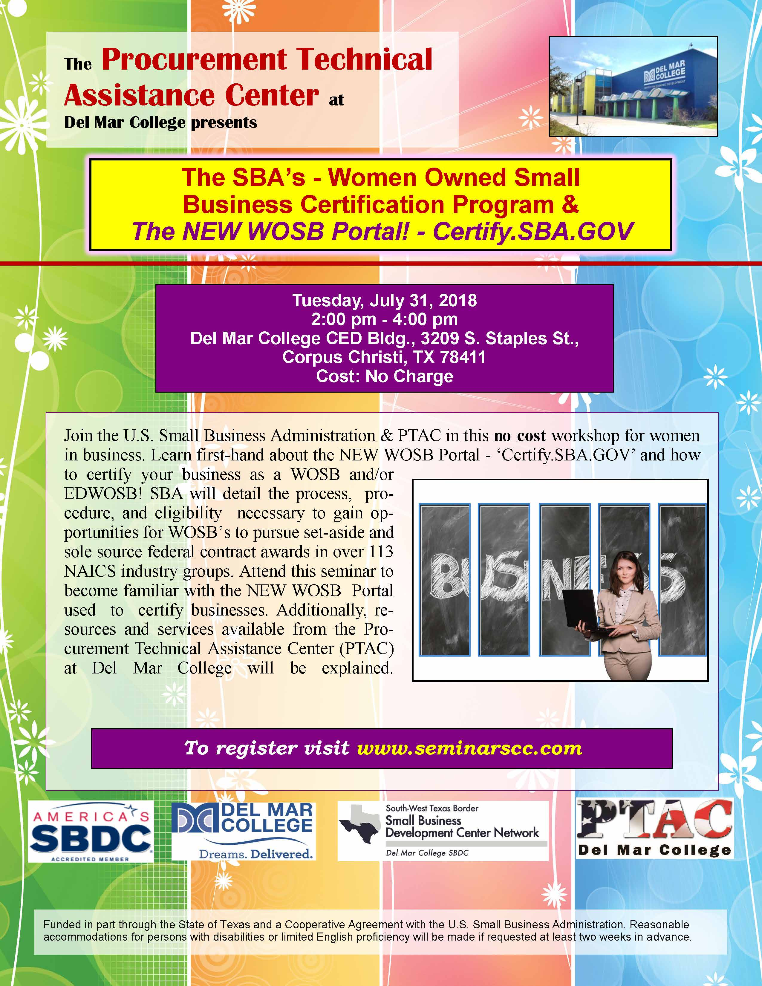 Ptac The Sbas Women Owned Small Business Certification Program