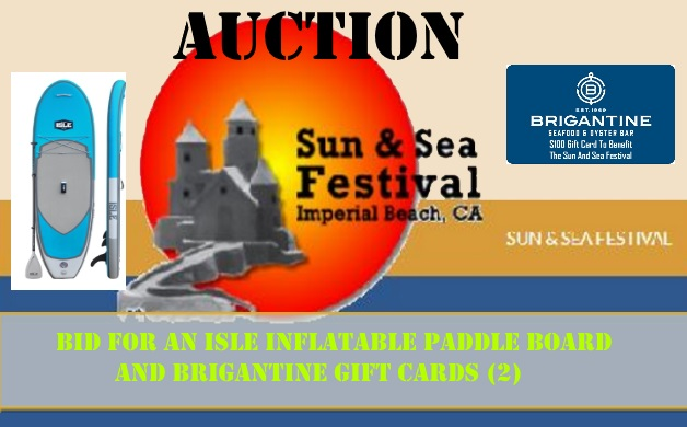 Sun  Sea Festival Public Online Auction Now Open Bid for an Isle Inflatable Paddle Board and Brigantine Gift Cards   Dig Imperial Beach
