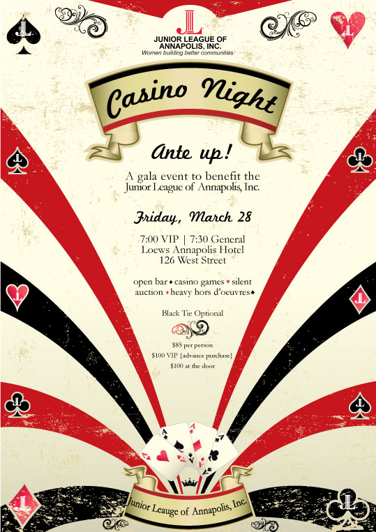 Casino Night Flyer Template Image Collections Template Design Free