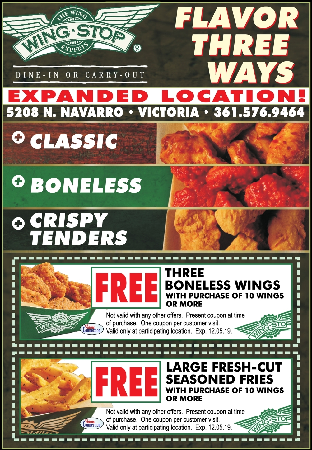 It is a picture of Superb Wingstop Coupons Printable