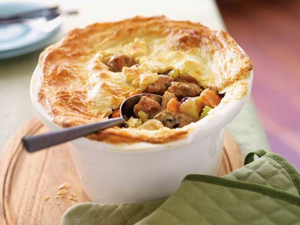 Turkey and Cranberry Pot Pie