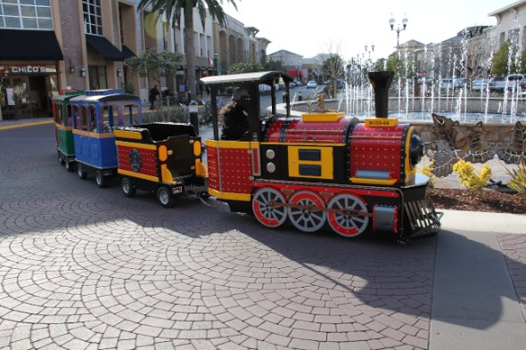 Train ride at the Fountains at Roseville