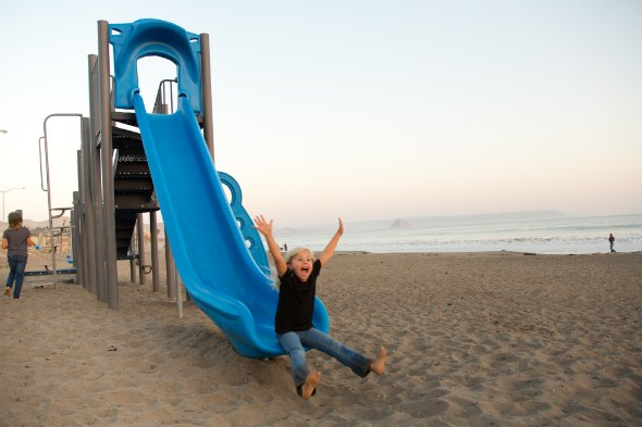 Beach playground in Cayucos