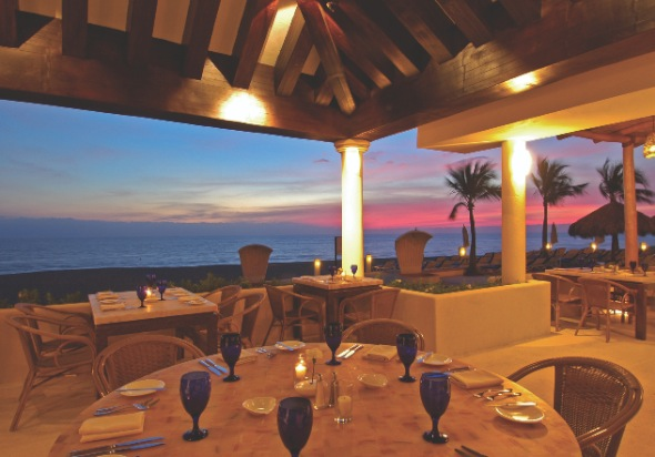 Ocean view from Las Casitas Restaurant