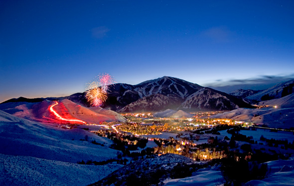 Sun Valley after dark
