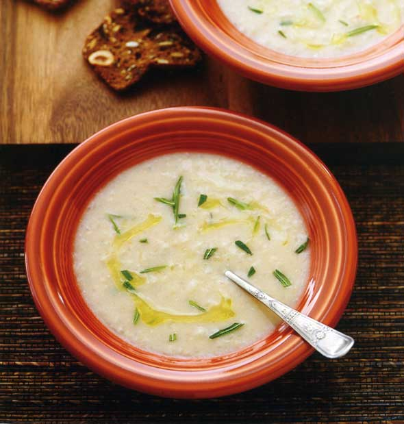 Tuscan White Bean Soup with Olive Oil and Rosemary