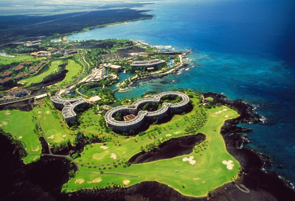 Aerial view of Hilton Waikoloa Village