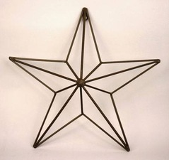 "17"" iron star, $10.95 at under the arbor"