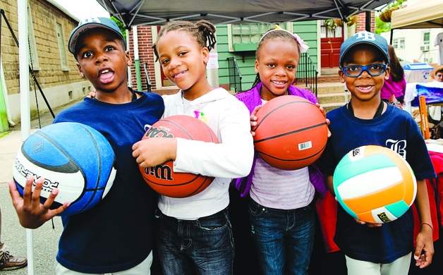 Two sets of twins Will Jacobs Kerianne Nweje May-Ann Nweje and Malik Jacobs have been friends since pre-school