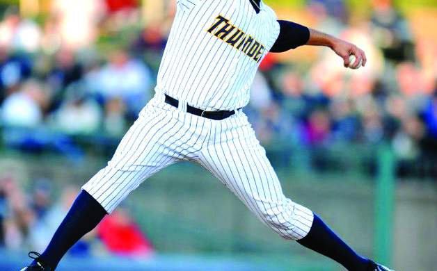 New York Yankees pitcher Andy Pettitte throws a pitch for the Trenton Thunder at Arm  Hammer Park