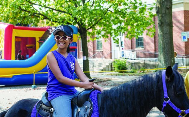 Laasya Narumanchi rides around Walnut Street