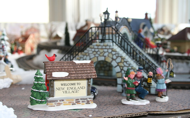Nancy Targonski designed a New England Village train layout which will be on display at Old City Hall in December Staff photo by Lexie Yearly