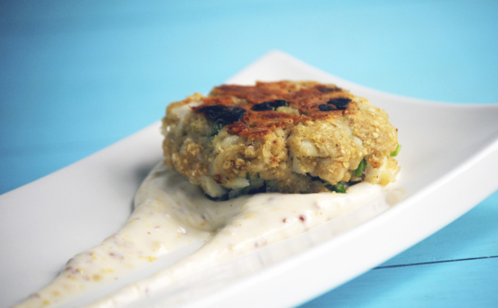 Dead Rise Crab Cakes with Old Bay Aioli | What's Up Magazine