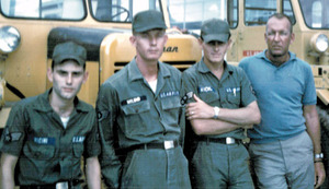 Bellinghams Bill Vicini on left with his aircraft repair crew in Vietnam in the 60s