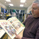 FNC owner Ernie Pelletier displays on of his early favorites the graphic novel