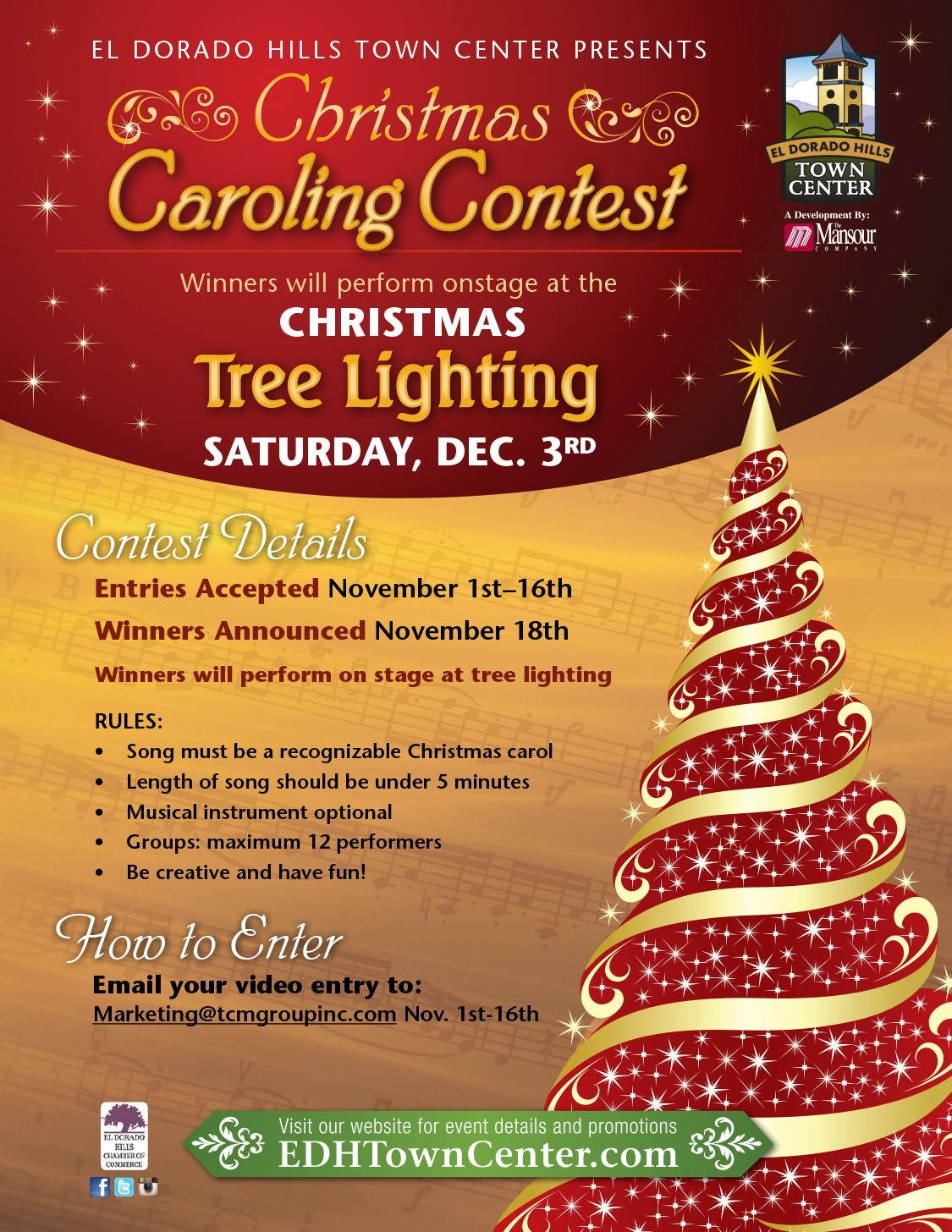 Christmas Contest Flyer.4th Annual Christmas Caroling Contest