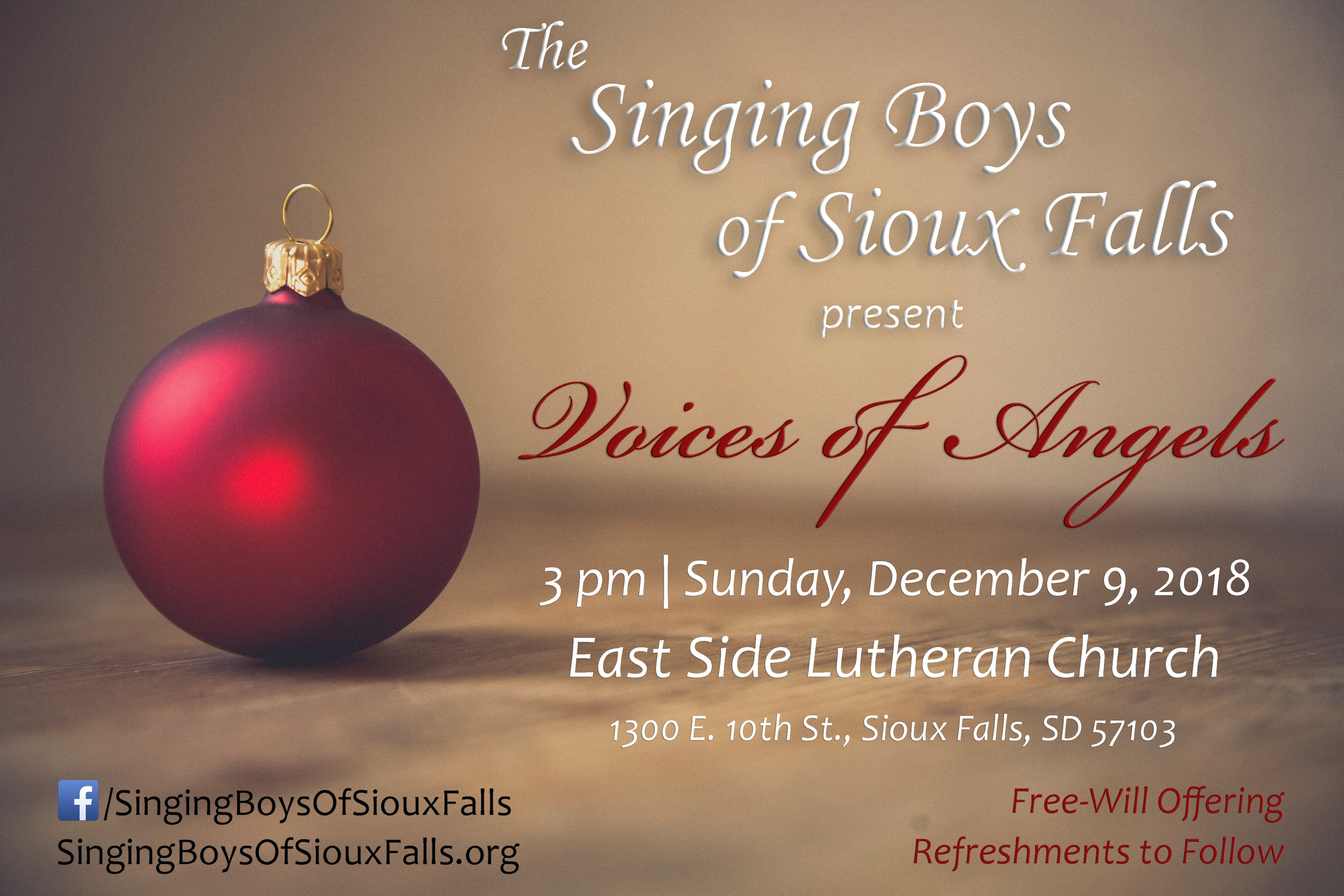 Christmas Concerts 2020 Sioux Falls Sd Singing Boys of SF   Christmas Concert