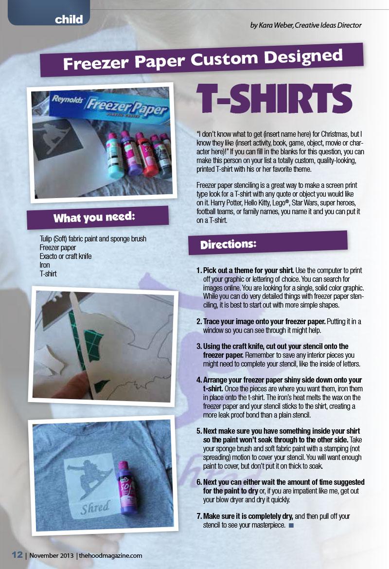 Freezer Paper Custom Designed T-Shirts | The Hood Magazine