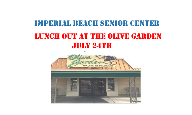 Imperial Beach Senior Center Is Holding Its Monthly Lunch Out At