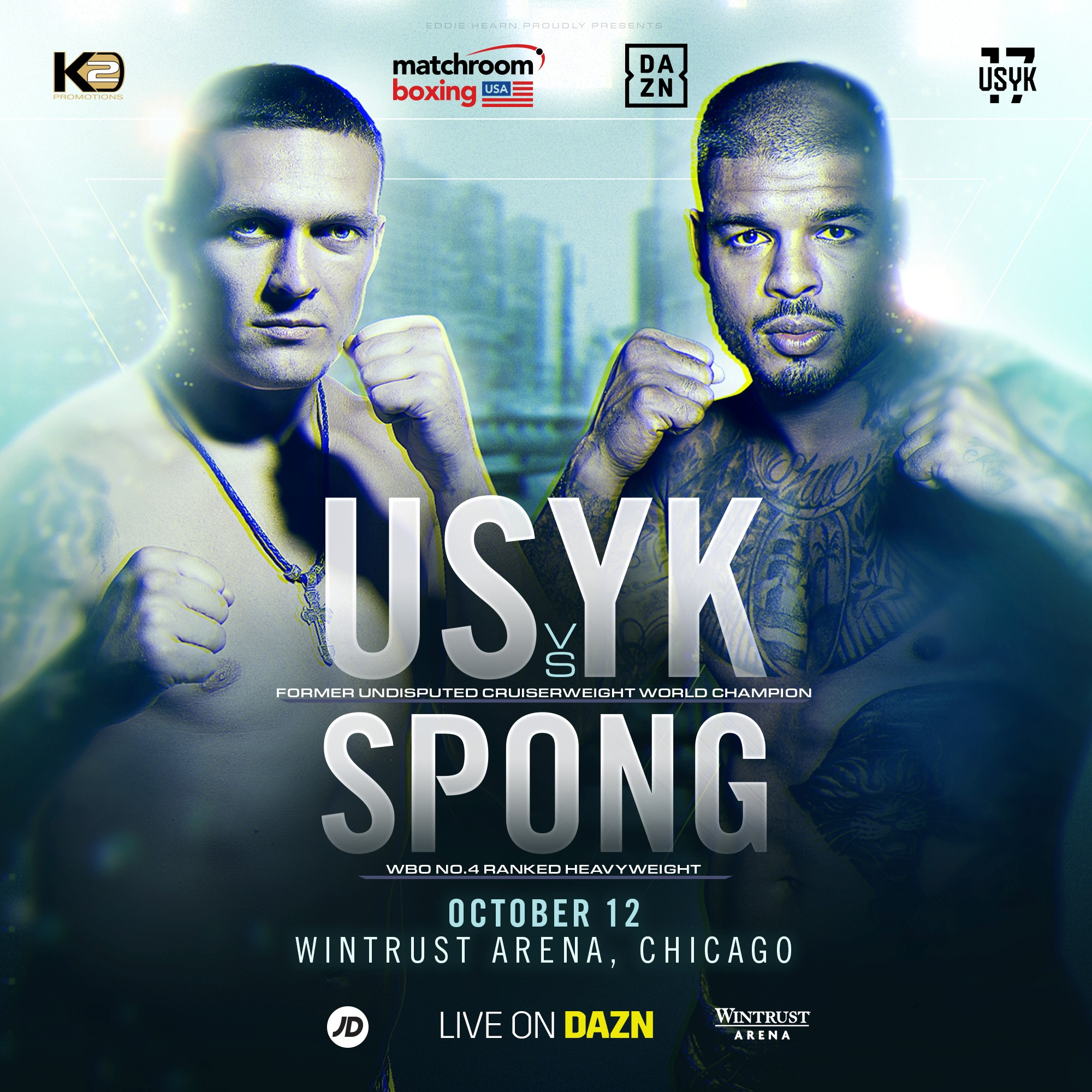 Sponsor Matchroom Boxing Usa: Oleksandr Usyk Faces Tyrone Spong On Heavyweight Debut At