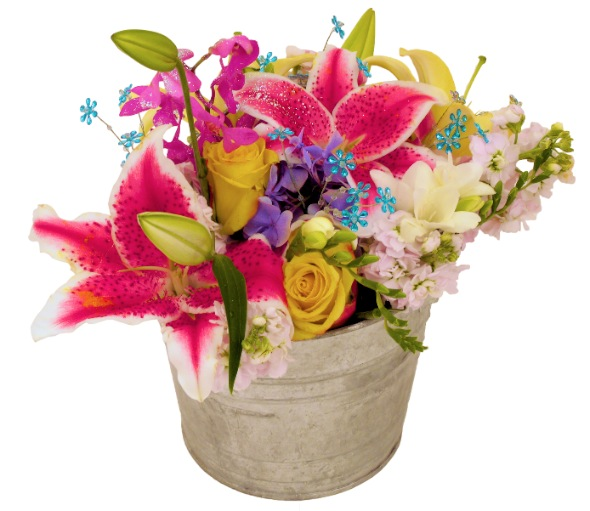 Party in a Bucket Bouquet