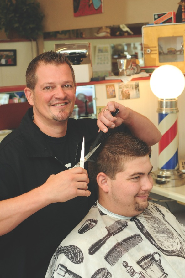 Tom Ward at Tom's Barber Shop
