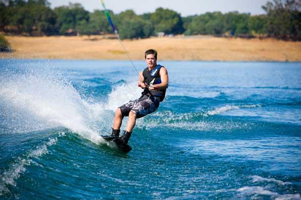 Wakeboarding at Folsom Lake
