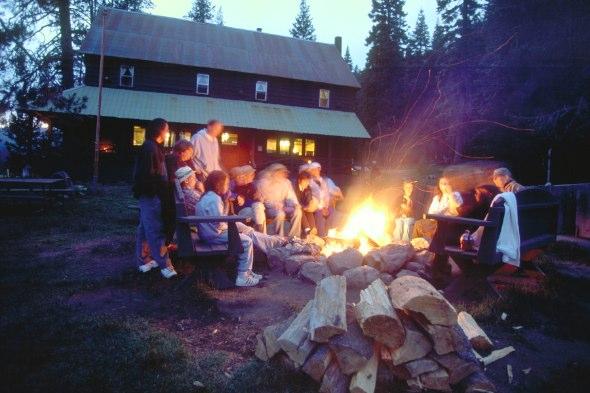 Campfire at Drakesbad Guest Ranch
