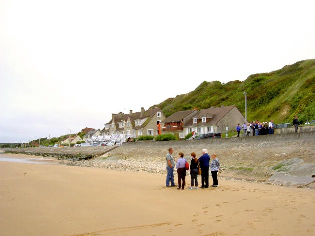 Tour group visits Omaha Beach  Photo by Dr Terry Baker