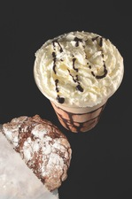 BLENDED CHOCOLATE PEANUT BUTTER LATTE 399 small at nicolsons musicafe