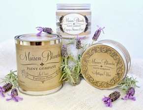 Maison Blanche lime wax, $35.95; antique wax, $31.95; furniture paint, $38.95 at  the painted owl